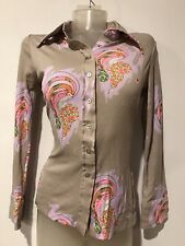 vintage 60's Paganne Ziegfeld Follies style art deco fitted blouse shirt top S