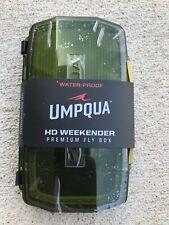 Umpqua HD Weekender Premium Water Resistant Fly Box Olive See-Through Heavy Duty