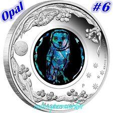 2014 Australia Opal Series #6 Masked Owl 1oz Silver Proof  Coin Perth COA & Box!