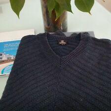 Pull  Sweater Gianni versace Bleu Anthracite, M, bon etat b8bb75d461b