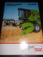 Prospekt Sales Brochure Deutz Fahr Mähdrescher M 1202 harvester moissonneur