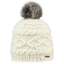 914461d2c86 BARTS NEW Women s Cream Knitted Pom Beanie Claire Faux Fur BNWT