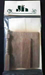 Vintage JOHN HAIGHT STUDIOS Artisan Walnut Staircase Landing (Right or Left) NOS