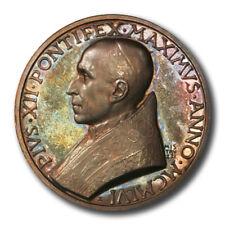 Vatican Pope Pius XII Year XVII High Relief Bronze Medal 1956  44mm
