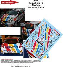 Decals 1/43 Renault Clio R3 Mauffrey Monte Carlo 2011