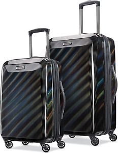 American Tourister Moonlight Hardside Expandable Luggage with Spinner Wheels, Ir