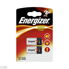 Energizer 628289 CR123A 3V Photo Lithium Battery Carded 2