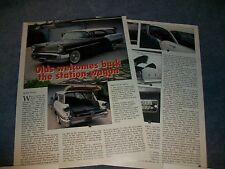 1957 Oldsmobile 88 Fiesta Hardtop Station Wagon Info Article Olds Welcomes Back