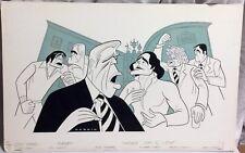 SAM NORKIN Orig Art CITY NEWS Fred Gwynn Tom Flagg Rex Robbins Michael O'Hare