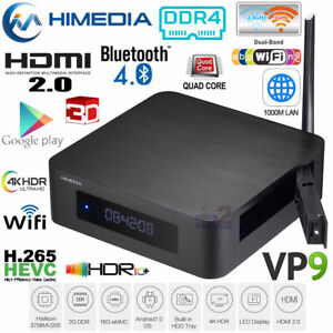 HiMedia Q100 Quad Core 4K H.265 Android Media Player DDR4 5G Dual WiFi HDR VP9