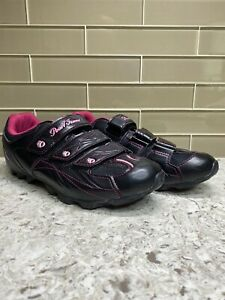 Pearl Izumi Quest All Road Cycling Shoes With Clips  Womens EUR 40 US 9 Black