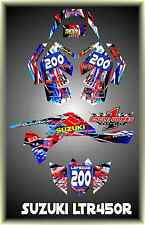 SUZUKI LTR 450 QUADRACER  SEMI CUSTOM GRAPHICS KIT BOMBA2