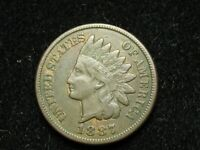 SPRING SALE!! VF 1887 INDIAN HEAD CENT PENNY w/ DIAMONDS & FULL LIBERTY #57w