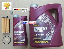 BMW 520 D 520D F10 F11 Kit de Servicio Filtro de aceite, aceite de motor 6 litros & Sumidero Enchufe