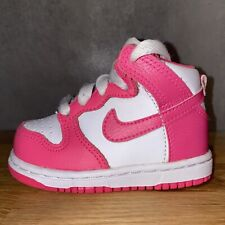 🎀 Nike Dunk High 5c Pink 🎀 Toddler Baby Shoes 🎀 Travis Scott