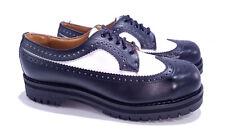 Getta Grip Dr. Martens Doc Rare Vintage Black White Steel Toe Wingtip UK 8 US 9