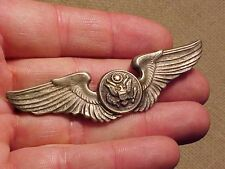 ORIG WWII FULL SIZE USAAF AIRCREW WINGS / INSIGNIA  - STERLING - AE CO UTICA #2