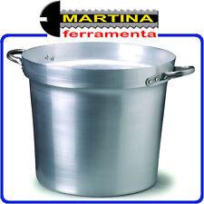 PENTOLA CALDAIA IN ALLUMINIO PER SALSE DIAMETRO 50 CM LITRI 50 H 33 CM SP 1,5 MM