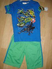 Nwt Tmnt Teenage Mutant Ninja Turtles boys shirt & shorts set size 4/5 outfit S