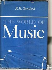 RARE LARGE HARDBACK BOOK* K.B. SANDVED pres: HE WORLD OF MUSIC* 2235 PAGES
