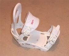 NEW SP RX 540 SNOWBOARD BINDINGS (S/M) White