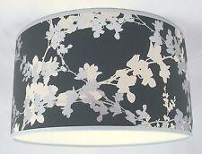 "11"" Lampshade Handmade in UK - Laura Ashley Hawthorn Charcoal Wallpaper"