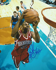 Jerry Stackhouse *PHILADELPHIA SIXERS* Signed 8x10 Photo J2 COA GFA