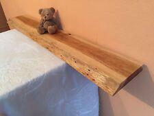 81) Wandboard Massivholz Eiche Steckboard Board Regal Baumkante Wandregal 100 cm
