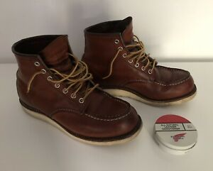 Red Wing boots. UK7. Classic moc toe boots. Plus conditioner.