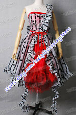 Tim Burton Movie Alice In Wonderland Costume Alice Red Court Um Dress TailorMade