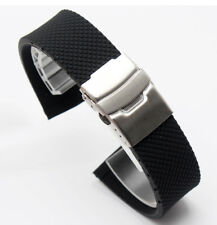 20mm rubber Band Silicone Strap bracelet Buckle (FITS) Oris BC3 Day Date