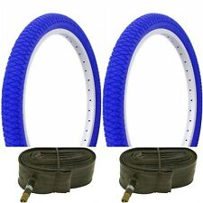 "Two BLUE 20x1.95"" BIKE BICYCLE TRAILER JOGGER TIRES & TUBES"