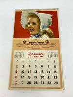 Vintage 1949 Laramie Federal Savings and Loan Advertising Calendar, Chicago IL