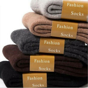 Womens Socks Warm Winter Men Multi-colored Socks Wool Woven Cashmere