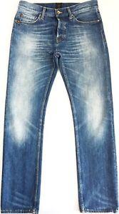 TIGER OF SWEDEN Men Dean Ben Used Indigo Jeans Slim Cotton Pants (Nudie) W32 L32