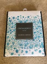 "New Cynthia Rowley Floral Fabric Shower Curtain ""Ditzy Floral Cabana"" 72X72 Nip"