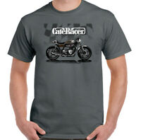Cafe Racer T-Shirt Mens Biker Motorbike Motorcycle Rider Indian Enthusiast Top