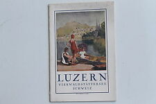 23237 guía turística folleto Lucerna vierwaldstädter lago suiza para 1930