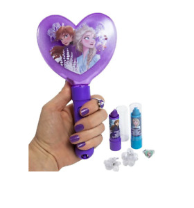 Disney FROZEN 2 Flavor Lip Balms w/ Light-up Mirror! Rings Hair clips Purple NEW