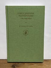 Early Javanese Inscriptions: New Dating Method; Gislén Eade; Oriental Studies