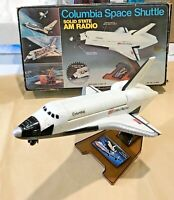 ANTIQUE COLUMBIA SPACE SHUTTLE TRANSISTOR RADIO WORKS HONG KONG BOXED EXC!!!