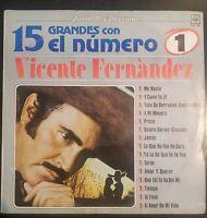 """Vicente Fernandez """"15 Grandes con el Numero 1"""" Vinyl Record LP"""