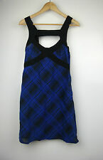 SHONA JOY Dress Sz 10 Blue black check print