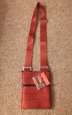 Maggie Bag Seatbelt Dark Red Cross Body Purse - NEW WITH TAG