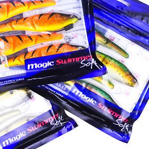 """SEBILE Magic Swimmer Soft 105 130 Jointed Swimbait Hook Weight Kit 4"""" 5"""" - PICK"""