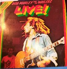 """VINILE BOB MARLEY AND THE WAILERS - LIVE! CON POSTER 12"""" LP VG+ REGGAE 1985"""