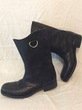 G-STAR RAW 33/01 Black Mid Calf Leather Boots Size 7