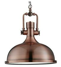 Searchlight Industrial Style 1 Light Inverted Ceiling Pendant in Antique Copper