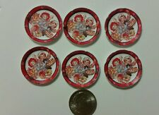 6 Miniature dollhouse 1/12 Raggedy Ann Barbie  Girl Book Accessory paper plates
