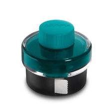Lamy Bottled Ink for Fountain Pens in Turmaline Blue with Blotting Paper - 50 mL